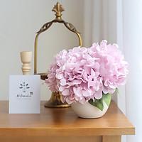 Hoa Giả - Bình Hoa Mẫu Đơn Có Kèm Lọ Men Bóng Decor Phong Cách Hàn Quốc, Bó Gồm 5 Bông, Trang Trí Sang Trọng