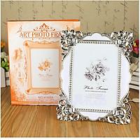 Khung ảnh để bàn sang trọng trang trí bàn tiệc cưới cỡ 16x22cm (tặng 01 vòng cuộn dây cáp sạc gọn gàng)
