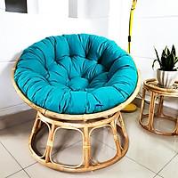 Ghế papasan ( nệm vải bố cotton  xanh ngọc)