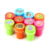 10 PCs Assorted Zoo Animals Stamps Kids Party Favors Event Supplies for Birthday Party Gift Toys Boy Girl Pinata Fillers