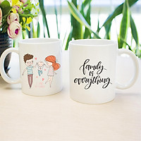 Cốc đôi Gift Stop in hình gia đình - COMBO03