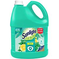Chai Nước Rửa Chén 3.6kg Sunlight Diệt Khuẩn Chiết xuất Chanh và Lá Bạc Hà Chất Diệt Khuẩn Tự Nhiên Diệt vi khuẩn bám trên chén dĩa