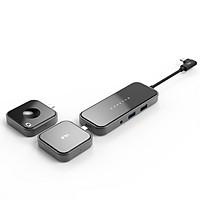 Hub USB Type-C 8 Cổng HDMI/ USB 3.1/ SD/ MicroSD/ USB C PD/ 3.5mm Feeltek Jet Glass Lego Hub - Hàng Chính Hãng