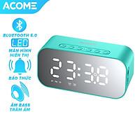 Loa Bluetooth Nghe Nhạc ACOME 5W Màn Hình LED Kiêm Đồng Hồ Báo Thức Mặt Tráng Gương, Hỗ Trợ Thẻ Nhớ & Đài FM - Hàng Chính Hãng