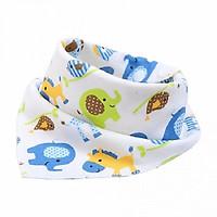 Combo 5 khăn yếm 2 lớp cotton 100% cho bé ( Màu ngẫu nhiên )