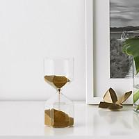 IKEA TILLSYN Đồng hồ cát trang trí trong suốt 16 cm Decorative hourglass clear glass 16 cm
