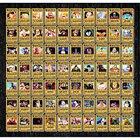 Combo 30 Tờ truy nã - Wanted Poster nhân vật One Piece - Khổ nhỏ 14.4cm x 20.3cm