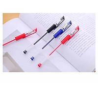 Bút bi bút nước 0.5mm cao cấp mực đều - 2 màu xanh đen đỏ