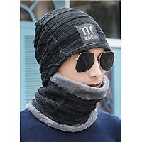 Mũ len kèm khăn nam nữ