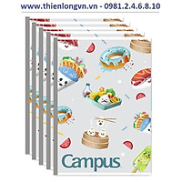 Lốc 5 quyển vở kẻ ngang 80 trang B5 Campus mẫu mới NB-BFO2-80 màu xanh nhạt
