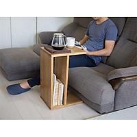 Bàn gỗ sofa tối giản/ Bàn trà gỗ trang trí phòng khách/ Kệ decor chữ C đa năng Nội thất gỗ tự nhiên