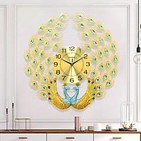 Đồng hồ treo tường hình con công - Đồng hồ đôi công