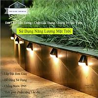 Đèn LED Gắn Tường - Chân Cầu Thang - Trang Trí Sân Vườn - Chiếu Sáng Lối Đi - Sử Dụng Năng Lượng Mặt Trời HC-35 Ánh Sáng Vàng - Có Video