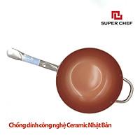 Chảo Chống Dính Ceramic Sâu Lòng ( Chảo Xào) Super Chef Cao cấp Siêu Bề Bỉ Không Bong Tróc, Siêu An Toàn, Tiện Lợi, Sang Trọng  size 26-28-30cm