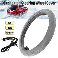 12v Car Auto Heated Steering Wheel Cover Heating Warm Winter