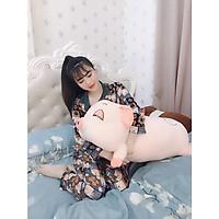 Gấu Bông Heo Lười Buồn Ngủ Mắt Híp - Size 1m1 màu hồng đáng yêu, ngộ nghĩnh