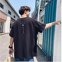 Áo Thun Nam Tay Lỡ Unisex cổ Tròn chất liệu vải cotton màu đen form rộng in chữ Japan 3 phong cách độc chất TheNgaustyle