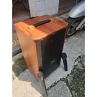 Loa kẹo kéo thùng gỗ Kiomic K88 kèm mic không dây 2020 - Hàng Chính Hãng