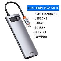 (Hàng chính hãng) Hub chuyển đổi đa năng Baseus Type-C - HDMI, USB, RJ45, SD, TF,... dành cho Macbook, Notebook, Laptop,...