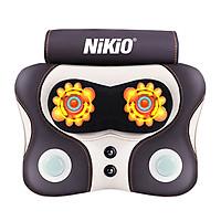 Máy (gối) massage xoa bóp cổ vai gáy pin sạc Nikio NK-136DC - Kết hợp đấm bóp lưng thế hệ mới