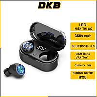 Tai Nghe Bluetooth 5.0 Không Dây, Cảm Ứng Vân Tay, Màn Led Báo Pin, Kháng Nước, Chống Ồn, Âm Thanh Cực Chất - TW80
