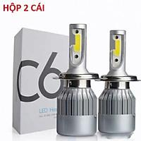 Đèn Pha LED C6- XE MÁY hộp đèn 2 bóng