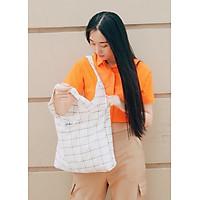 Túi Tote Vải Ginko Unisex Phong Cách Hàn Quốc Vintage (Nhiều Màu) K12  - Tặng 1 Cupholder