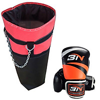 Combo vỏ bao cát tập boxing, mma + găng bao tay đấm bốc boxing, mma - Thiết bị tập đấm bốc boxing, mma, muay, võ cổ truyền