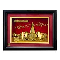 Khung Tranh 3d Mạ Vàng Sbj Wat Arun Temple