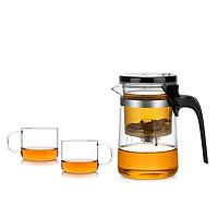 Combo bình lọc trà thủy tinh Samadoyo E01209