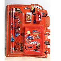 Combo dụng cụ học tập cho các bé (bút chì, thước, gôm, đồ chuốt, ví tiền)