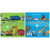 Combo 2 cuốn sách Ehon Thông Minh Cho Trẻ Mẫu Giáo :  Kẹt Xe Lâu Quá vậy? + Xếp Hàng Làm Gì Thế? ( Tặng kèm Bookmark Happy Life)