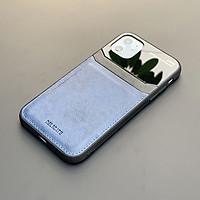 Ốp lưng da kính cao cấp dành cho iPhone 11 - Màu xanh - Hàng nhập khẩu - DELICATE