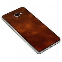 Ốp da dán Galaxy A9 Pro - Da thật nhập khẩu cao cấp - Davis (Nâu ngọc bích)