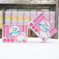 Combo 2 hộp Bông tẩy trang cao cấp Cotton Labo Clean Puff Nhật Bản (80 miếng/hộp x 2)