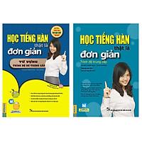 Combo Học tiếng Hàn thật là đơn giản trung cấp và từ vựng (Tặng Bookmark Tùy chọn)
