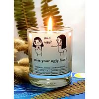 Miss your ugly face - nến thơm bằng sáp ong và tinh dầu: citrus ( tinh dầu cam quýt)
