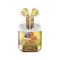 Miếng dán skin chống bẩn cho tai nghe AirPods in hình Heo con dễ thương - HEO2k19 - 020 (bản không dây 1 và 2)