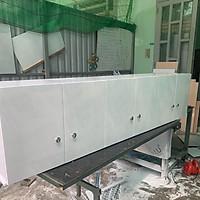 Kệ bếp tủ bếp treo tường nhựa đài loan trắng 1m9(TPHCM)