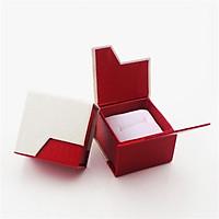 Combo 3 hộp quà đựng nhẫn cao cấp V.1 - Màu đỏ phối trắng
