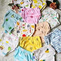 Combo 10 Quần bỏ bỉm vải cotton 6 lớp siêu thấm, thoáng mát hiệu Goodmama cho Bé trai từ 5-17 kg.