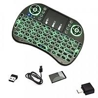 Bàn phím mini không dây có LED cho android box, laptop - pin sạc
