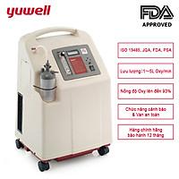 Máy tạo oxy 5 lít/phút YUWELL 7F-5 Nồng độ oxy tinh khiết 93% nhập khẩu chính hãng