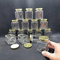 Lọ Thủy Tinh Vuông 100ML (combo 16 lo) nắp thiếc vàng – Hũ Thuỷ Tinh Vuông – Hủ Chưng Yến – Đựng Sữa Chua, mật ong, dầu dừa, thức uống, thực phẩm