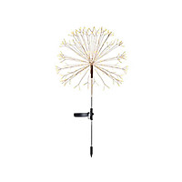 150 LEDs Solar Powered Energy Firework Design Fairy String Light Lawn Lamp with 2 Different Lighting Modes Effects