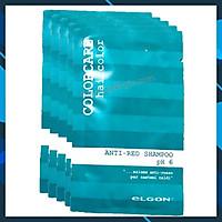 Combo 10 gói dầu gội khử đỏ Elgon Colorcare Anti-Red shampoo 10mlx10