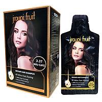 Dầu Gội Nhuộm Nâu Phủ Bạc Thảo Dược Cả Nam và Nữ JRUOI FRUIT (hộp 8 gói + găng tay) (Thuốc nhuộm tóc)