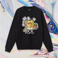 Áo sweater WRIGHT bọt biển hư hỏng NEW COLLECTION cá tính unisex