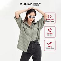 Áo sơ mi nữ phom rộng GUMAC đồ công sở thanh lịch AB421