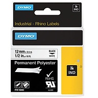Nhãn in nhựa polyester bền công nghiệp Rhino 12mm trắng 18483